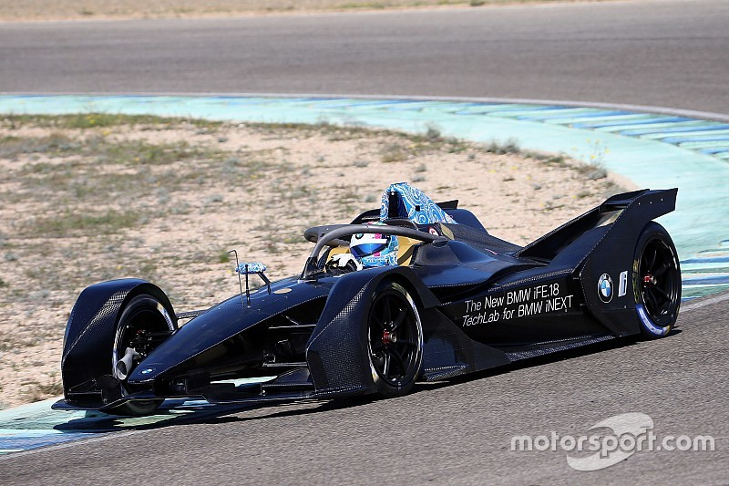 Bruno Spengler tests the new BMW iFE.18 Formula E car