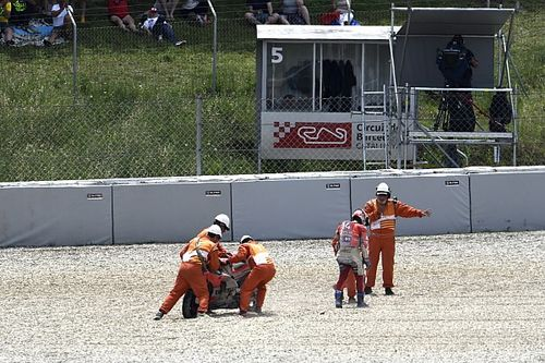 "Dovizioso ""pushing too much"" in Barcelona crash"
