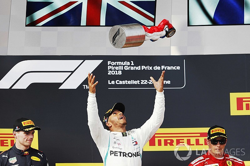 French GP: Hamilton cruises to win as Vettel hits Bottas
