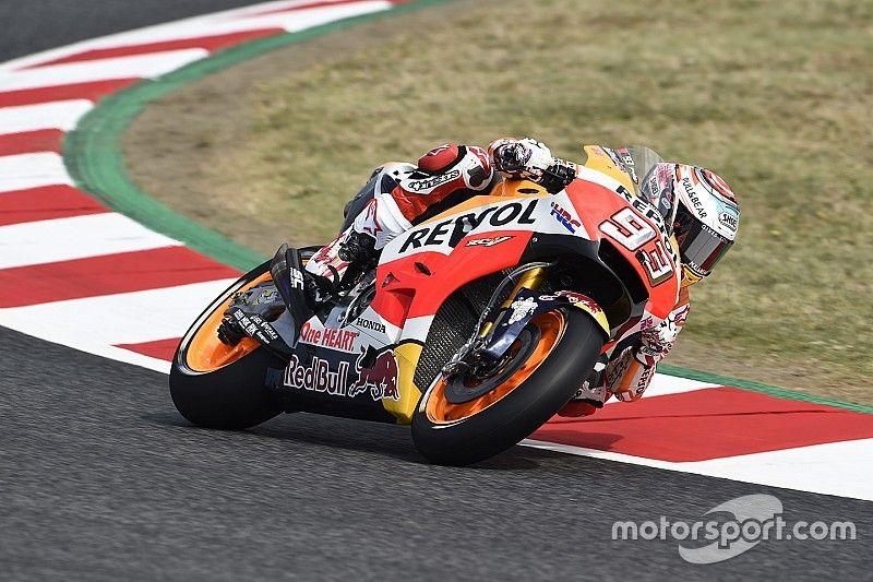 Tweede training GP Catalonië: Marquez voor Lorenzo, P17 Viñales