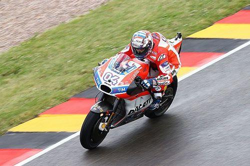 'Dovi' en Lorenzo missen grip met de Ducati op de Sachsenring