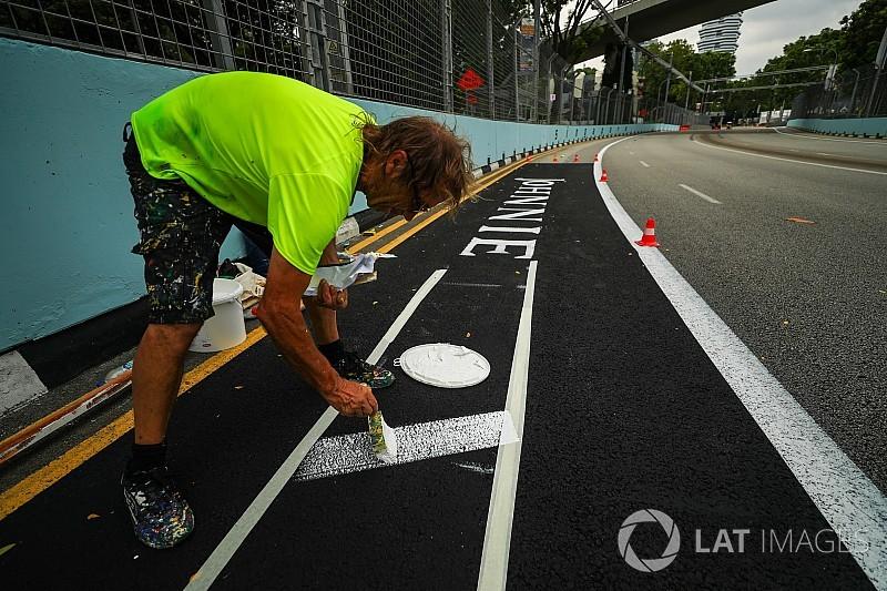 Сингапур готовится к Гран При: фото