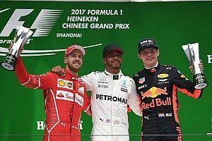 GP Tiongkok: Hamilton dominasi balapan, Vettel P2