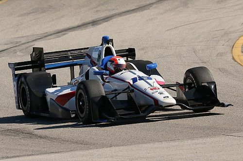 """Ed Jones """"finding the limit"""" of an IndyCar"""