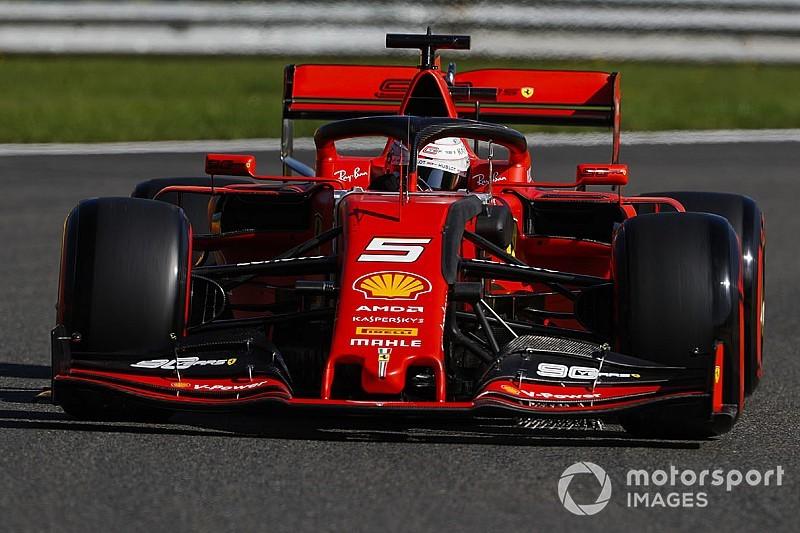 Belçika GP 1. antrenman: Vettel lider, Ferrari 1-2!