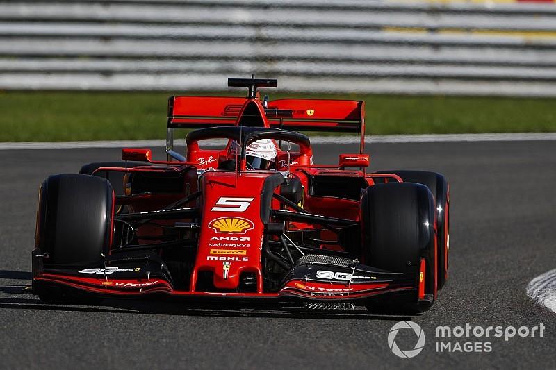 Belgian GP: Vettel leads Ferrari 1-2 in opening practice