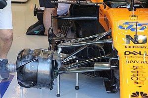 McLaren volvió a probar el concepto de suspensión de Mercedes