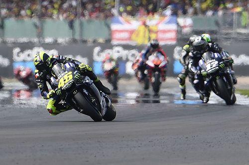 Rossi's podium bid derailed by rear tyre issue