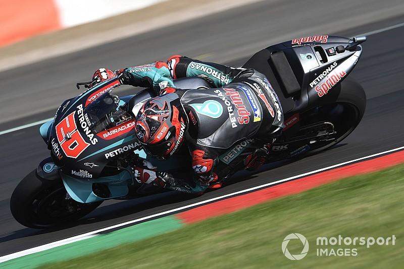 Silverstone MotoGP: Quartararo leads Marquez in warm-up