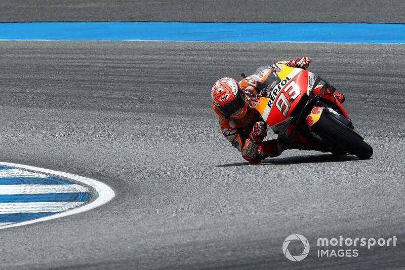 Marquez voor Quartararo in warm-up voor GP van Thailand