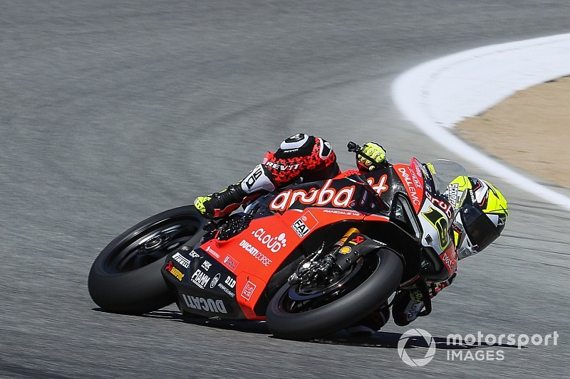 "Bautista ""didn't have arm strength"" to finish Laguna Seca race"