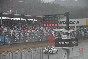 第1戦岡山:決勝レースは多重クラッシュ発生により、13周終了時点で赤旗中断