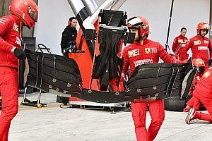 Ferrari: ecco l'ala anteriore della SF90 vista da sotto dotata del raggio laser