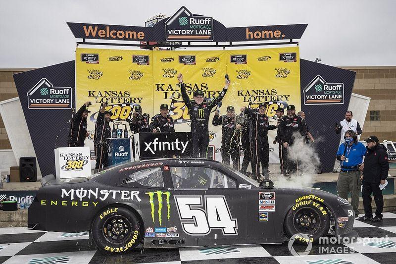 Ty Gibbs takes Kansas Xfinity win as playoff drivers stumble
