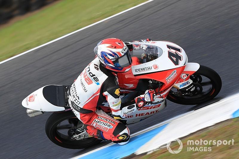 Moto3, Sepang, Libere 1: Atiratphuvapat brilla sull'umido, Bezzecchi terzo