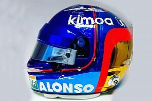 Alonso dévoile un casque spécial pour son dernier GP
