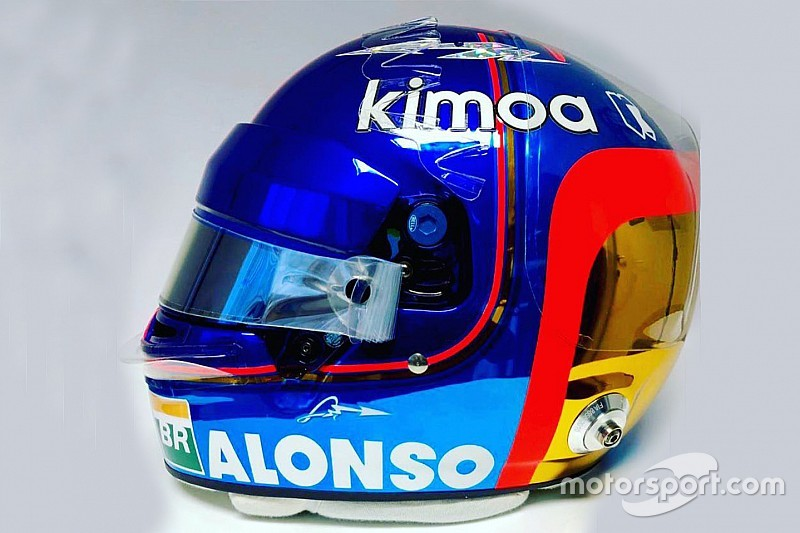 Alonso reveals new helmet design for final F1 race