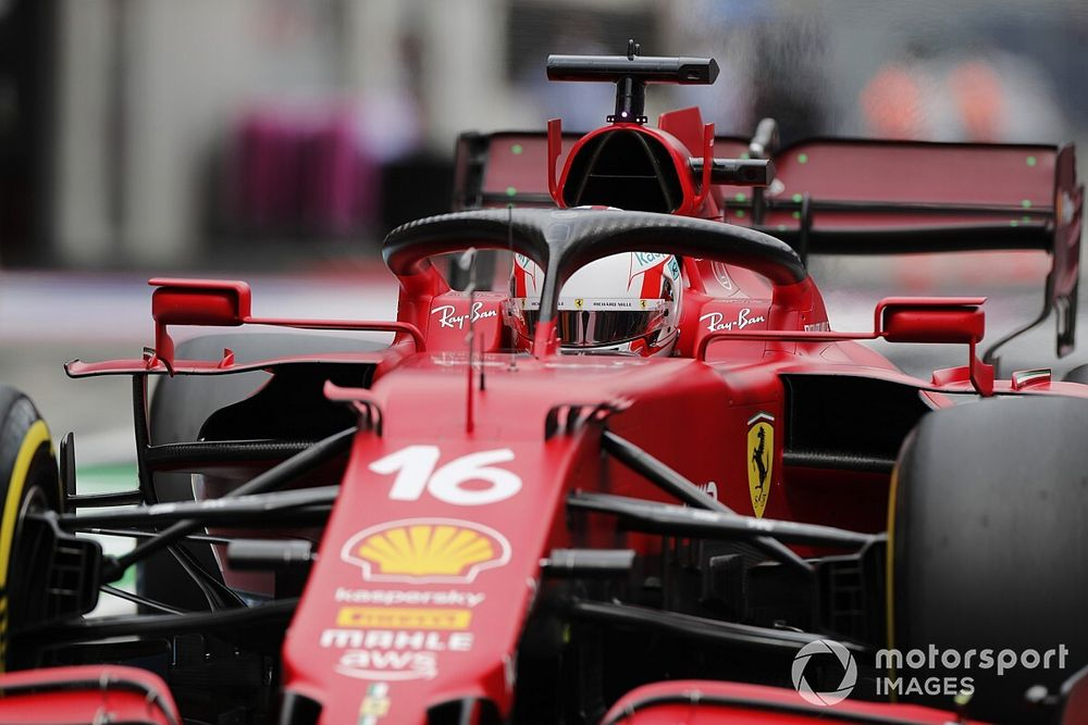 """フェラーリ、""""想定外に速い""""ウイリアムズのラッセルに阻まれ「予選の戦略が崩されてしまった……」"""