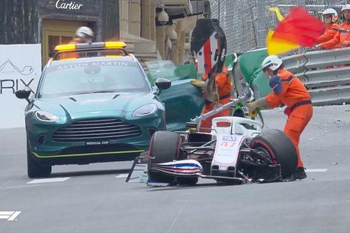 Schumacher se queda sin clasificación tras su accidente en Mónaco