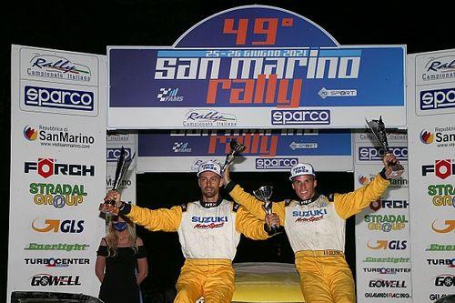Suzuki Rally Cup: Goldoni vince anche su terra al San Marino
