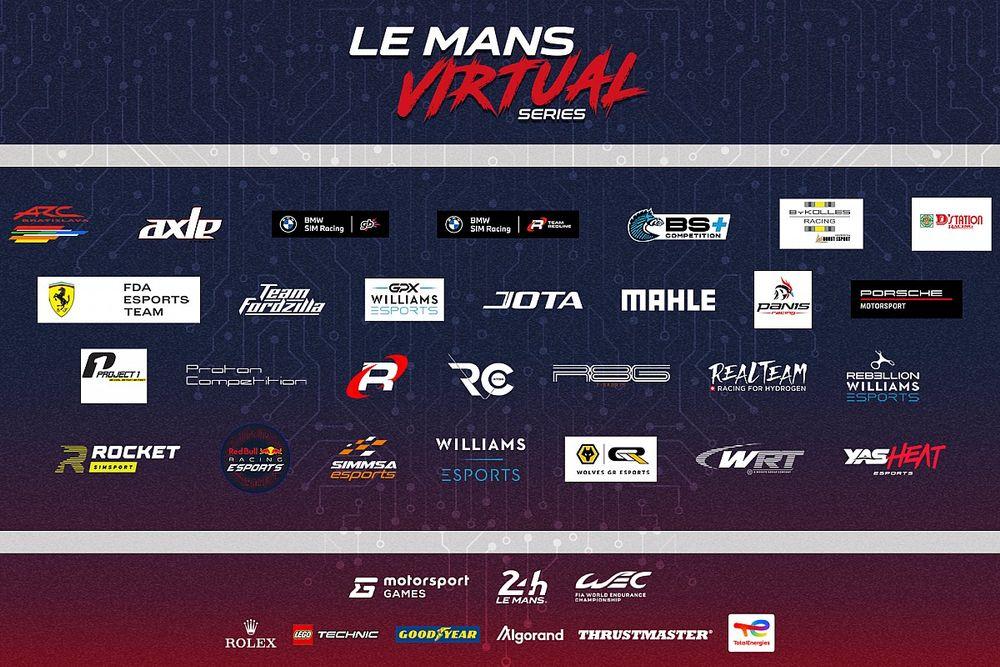 ル・マン・バーチャル・シリーズ、エントリーチームが公開