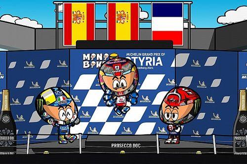 Vídeo: el emocionante GP de Estiria de MotoGP según MiniBikers