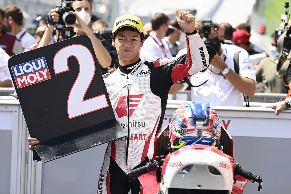 """〈アジアから""""世界""""へ〉小椋藍とIDEMITSU Honda Team Asiaの挑戦:""""納得""""のMoto2初表彰台! 「ちゃんと表彰台で終わることができてよかった」"""
