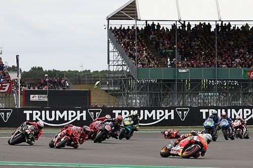 WK-stand na de MotoGP Grand Prix van Groot-Brittannië