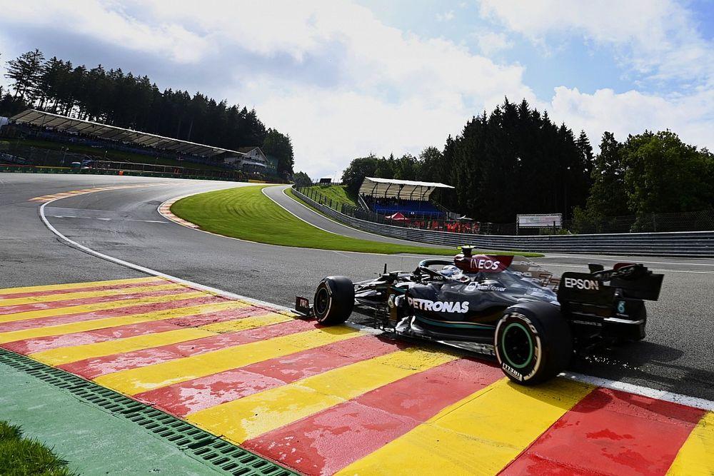 Bottas bovenaan in eerste training GP van België, Verstappen op P2
