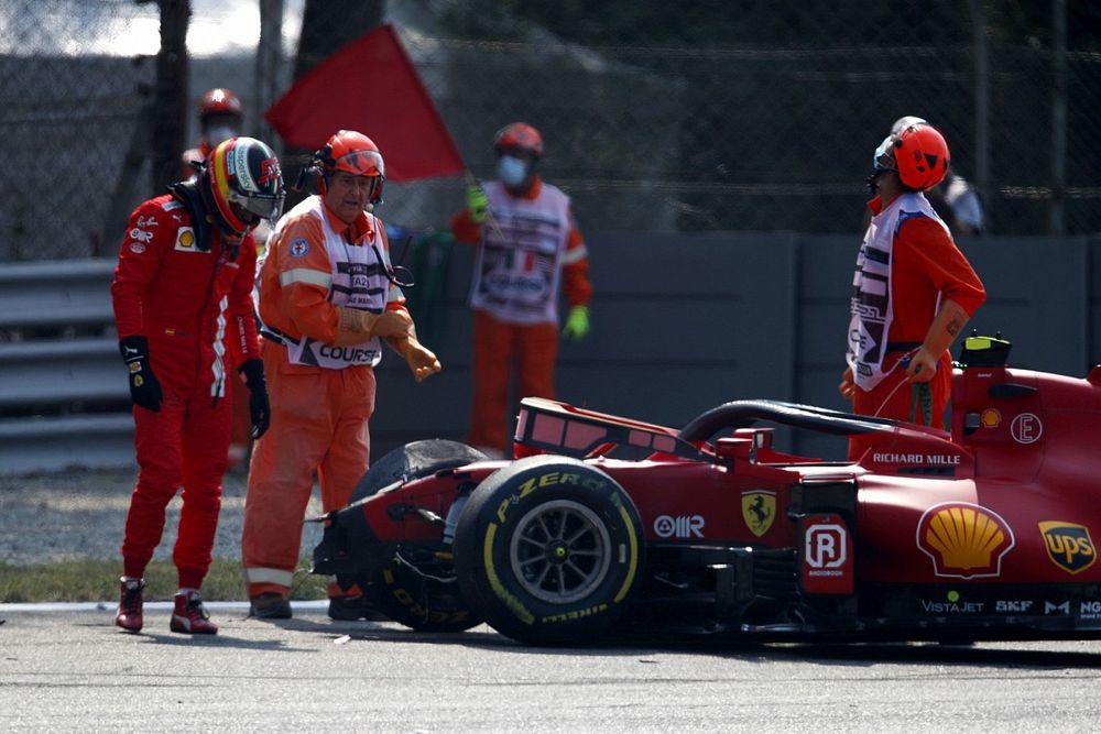 Sainz, Monza'daki tuhaf kazadan sonra güven kaybı yaşıyor
