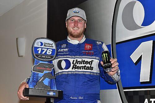 Austin Hill wins regular season NASCAR Truck Series finale at the Glen