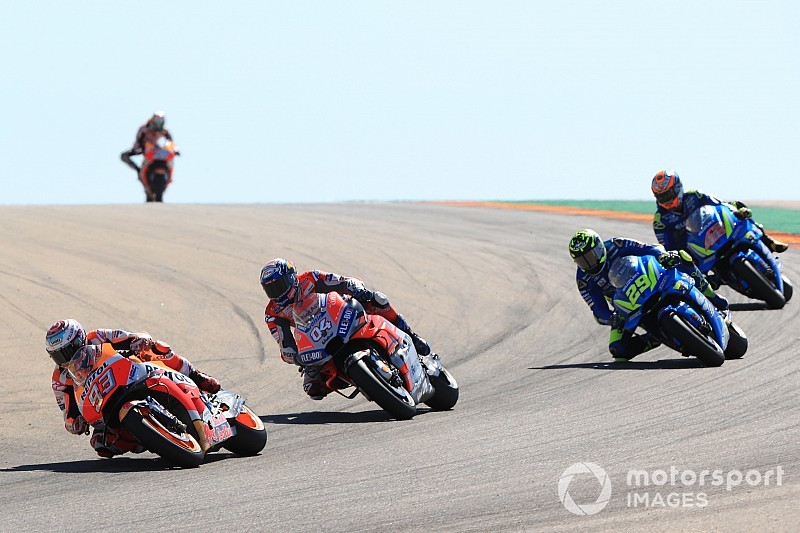MotoGP Aragon 2018: Marquez besiegt Dovizioso, Lorenzo stürzt