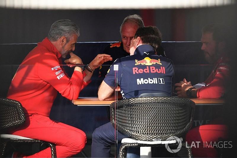 """""""Titkos"""" találkozó a Red Bull és a Ferrari között a Belga Nagydíjon"""