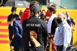 Hamilton, bajo el ojo de la FIA por su mensaje en el podio