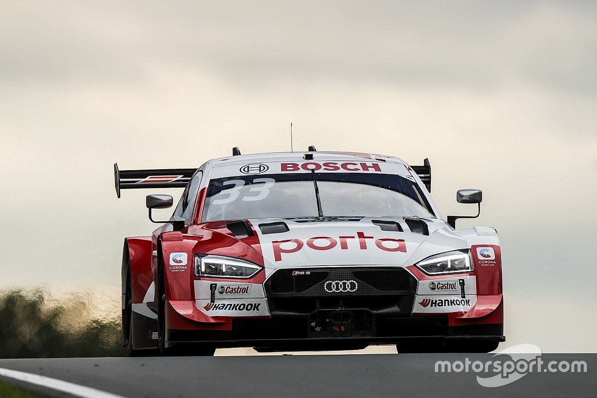Zolder DTM: Rast snatches pole from Glock in damp qualifying