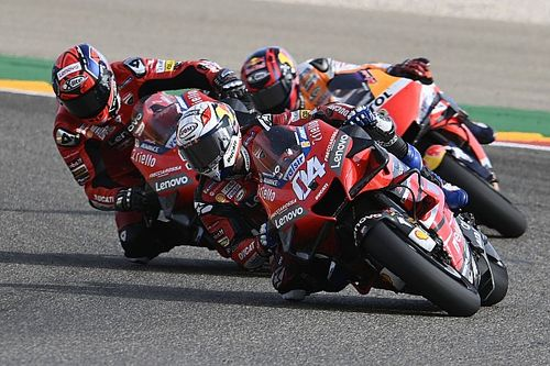 "Dovizioso ""completely finished"" rear tyre in Teruel GP"