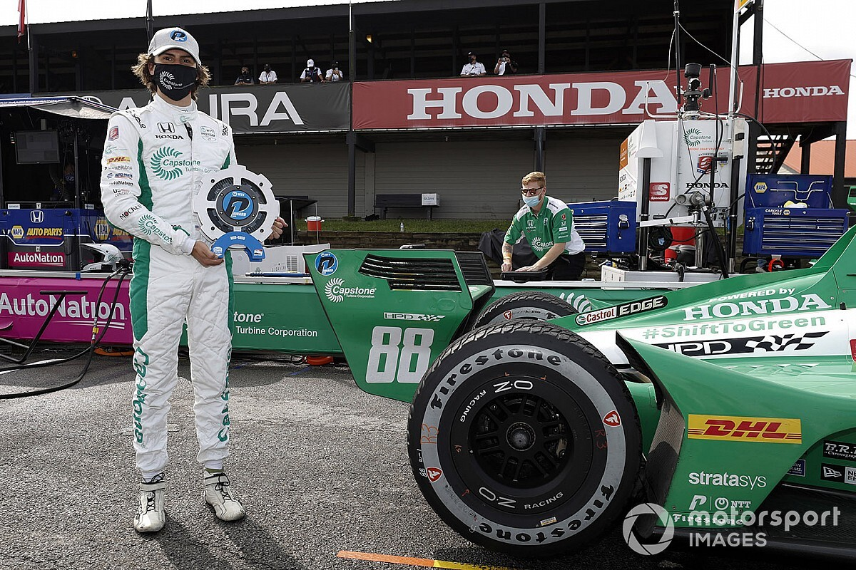 IndyCar Mid-Ohio: Herta grabs pole for Race 2, Ferrucci second