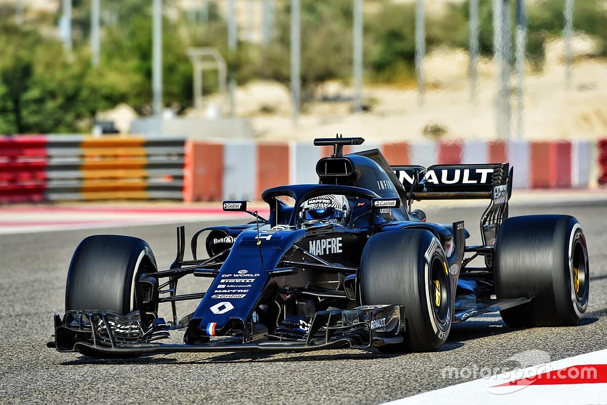 Foto's: Alonso test met Renault R.S.18 in Bahrein