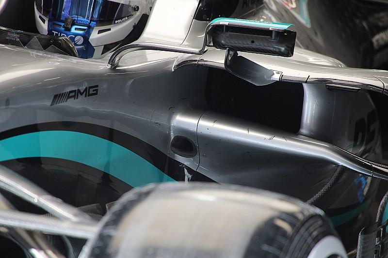 Teknik: Mercedes, W11'i soğutmak için sidepod altına delik açtı