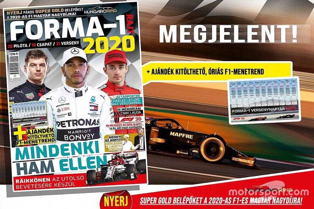Július elejéig még elérhető a FORMA-1 RAJT 2020-magazin!