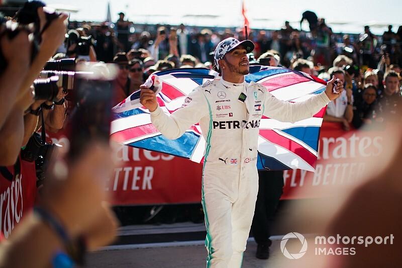 La celebración del 6º campeonato de Hamilton