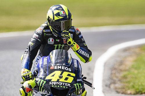 """Rossi: """"El plan de hacer la crono y la carrera el mismo día es curioso"""""""