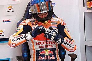 Marquez suffers hand injury in violent MotoGP qualifying crash