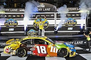 Kyle Busch steals Busch Clash win as leaders wreck