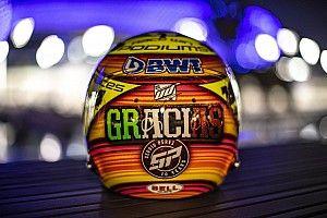 Pérez deja entrever su despedida de la F1 con un casco especial