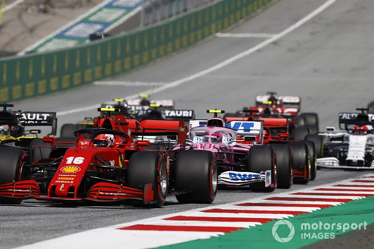 2020 F1 Austrian Grand Prix race results