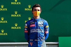 Norris szenzációs öröme: élete első F1-es dobogója (videó)