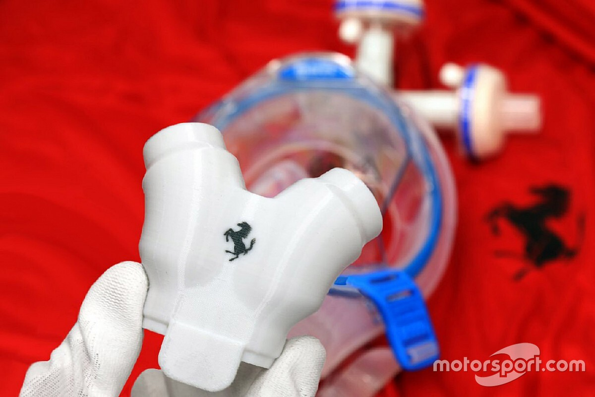 Ferrari: da Maranello le valvole per respiratori polmonari