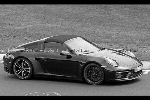 Porsche 911 GTS Targa, le foto spia al Nurburgring senza camuffature