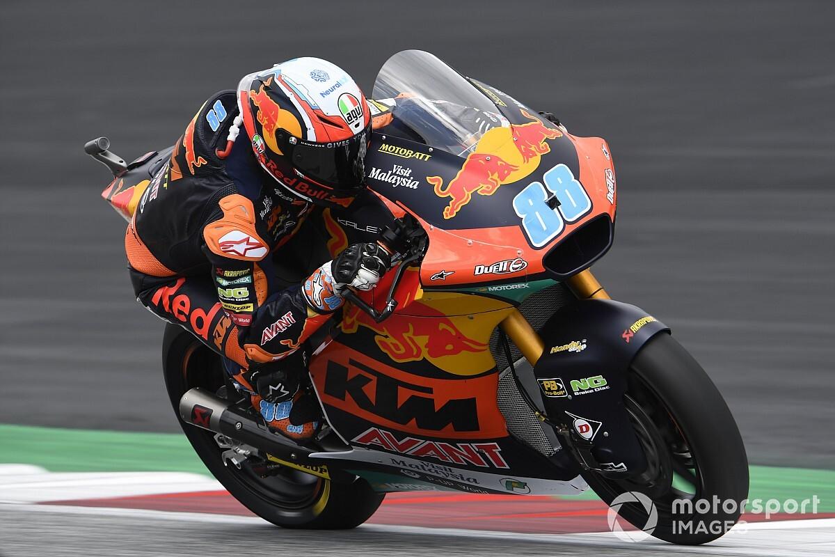 Moto2オーストリア:赤旗中断挟む短縮レース、マルティンが初優勝。長島哲太は転倒リタイア